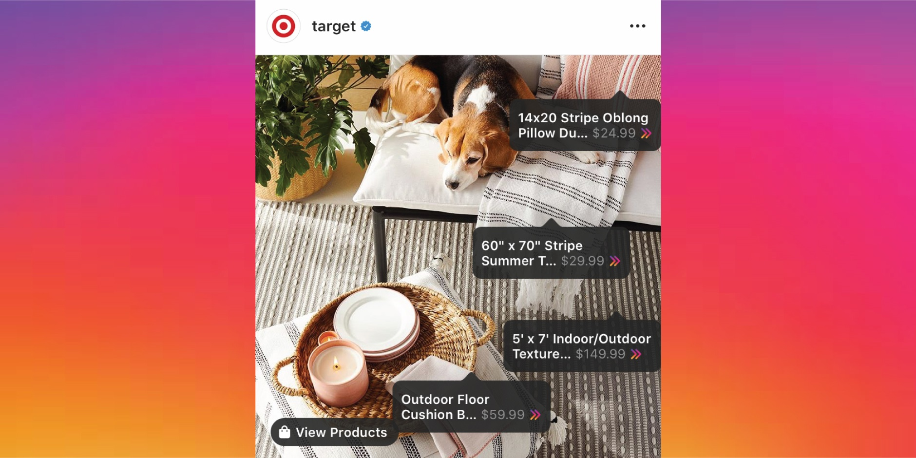 Target Becomes First Mass Retailer to Make Products Available Through Instagram Checkout