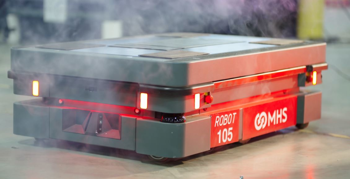 MHS Global uses machine learning in its robotics systems. The company recently developed an order-fulfillment cell that can build more than 40,000 orders a day with two robots.